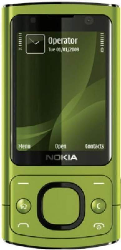 Nokia 6700 slide lime green