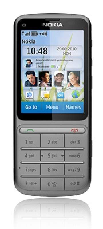 Nokia C3-01 Touch and Type silber