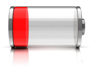 empty battery 3d icon